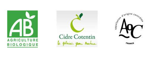 Logos AOC Cidre Cotentin Bio